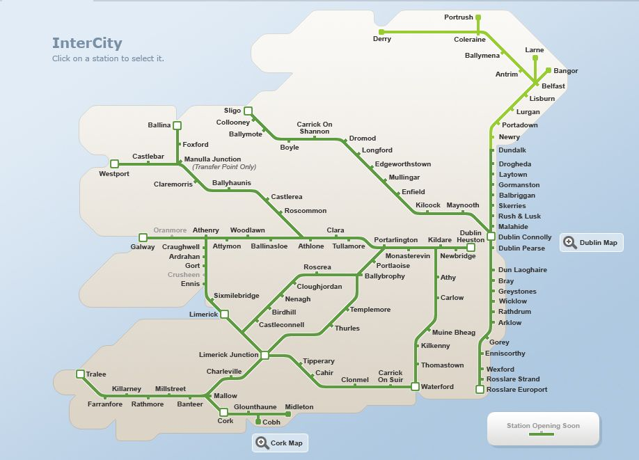 Transportation choices to and from dublin airport and around ireland
