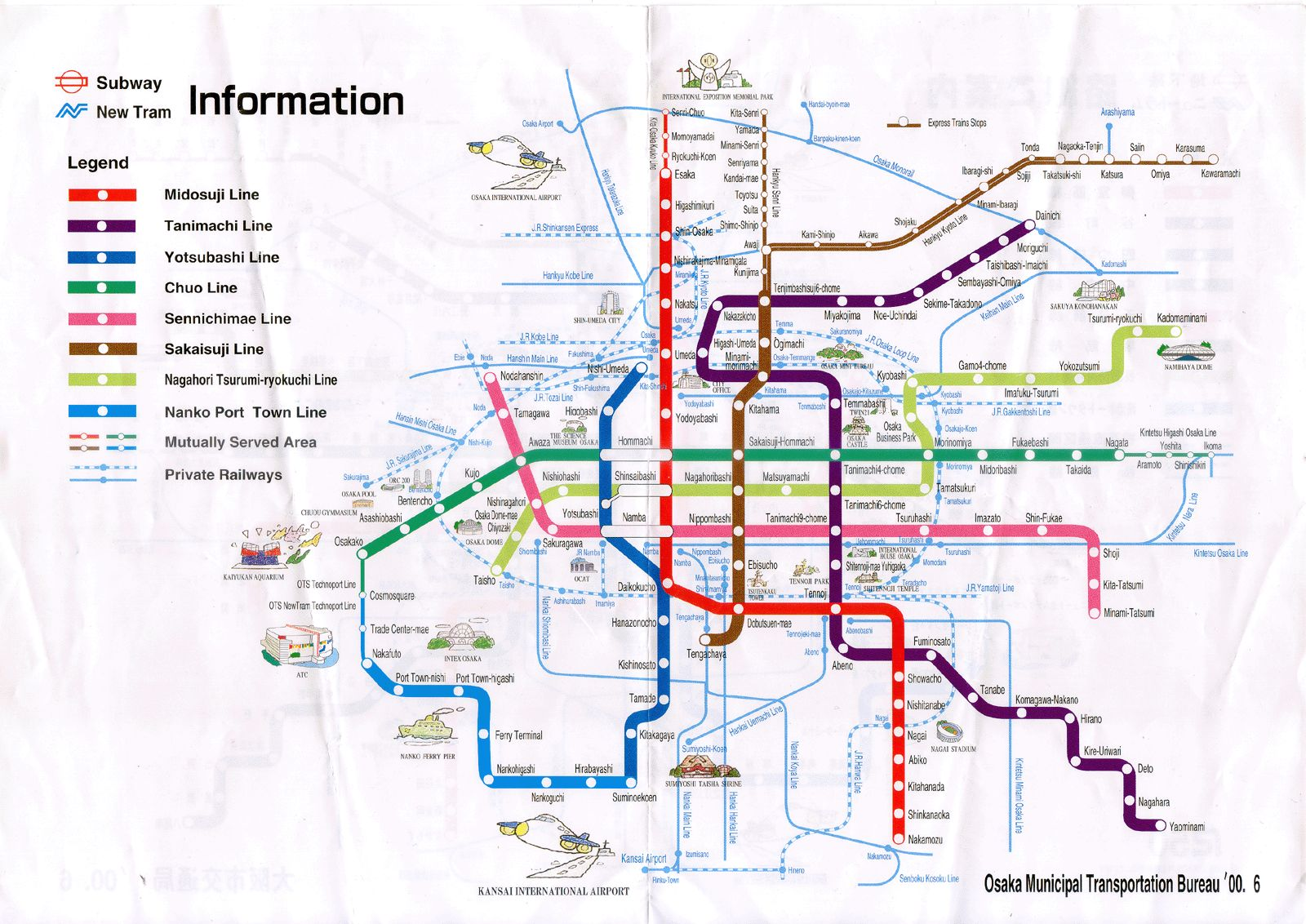 Nankai Line to Kansei is 7 minutes on foot from Namba | Travels ... TIRANA SUBWAY MAP