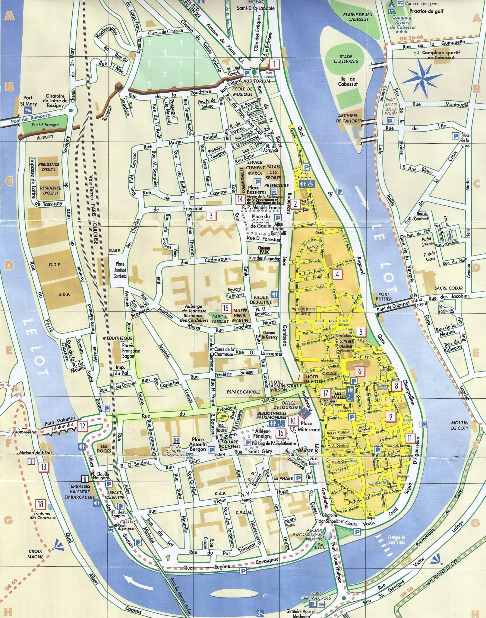 Cahors Map Of France