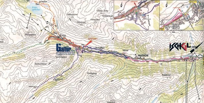 Active Sports In Ischgl Austria Rock Climbing High Ropes And - Topographic map of austria 2008