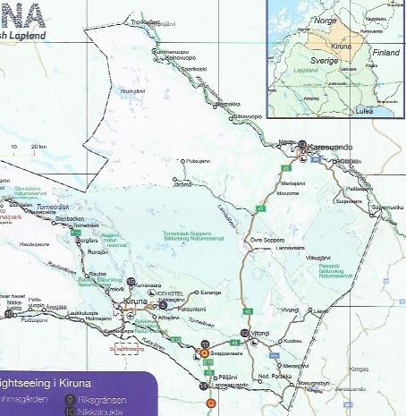 Transportation To And From Kiruna Airport Sweden Travels With - Sweden bus map