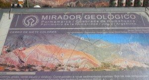 informational sign at 7 Color Hill, Purmamarca, Argentina