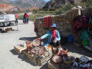 selling in front of 7 Color Hill, Purmamarca, Argentina