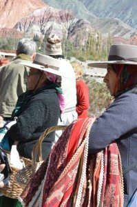 sellers at hill of 7 colors, Purmamarca, Argentina