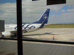 Aerolineas Argentina 737-700 plane, Salta Airport
