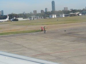 Aerolineas Argentina 737-700 landing at Newbery Airport (AEP), Buenos Aires