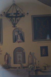 Santa Rosa de Lima in niche inside church, Purmamarca, Argentina