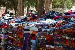 heaps of goods in Purmamarca Market, Argentina
