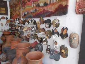 unusual masks for sale in Purmamarca, Argentina