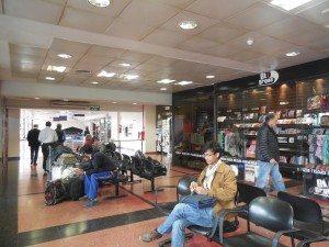 waiting area at Salta Airport, Argentina