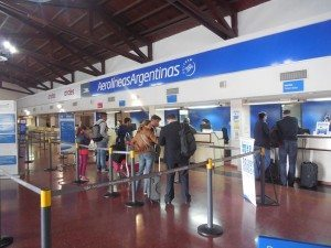 Airlines Argentinas check-in at Salta Airport