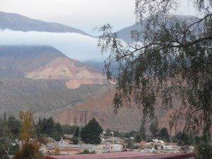 views of Tilcara from Posada Don Juan