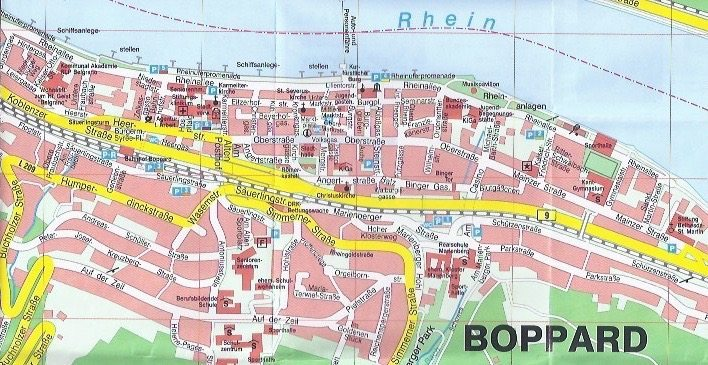 Boppard Germany  city pictures gallery : map of Boppard, Germany