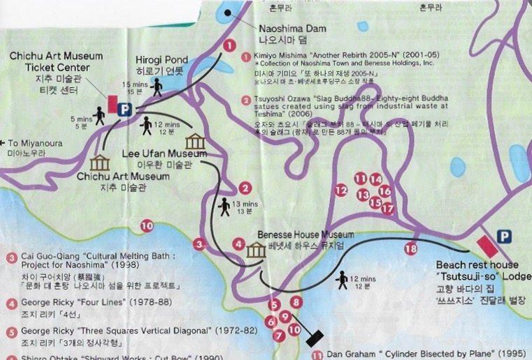 Outdoor Sculptures On Naoshima Art Island Japan Travels With - Japan map naoshima