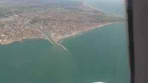 Alitalia A319 over Rome seaside to Brindisi, Italy