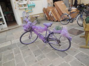 decorated bicycle in Lecce, Italy