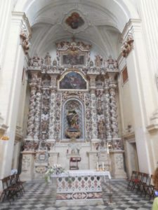 stone altar inside Church of Saint Matteo, Lecce, Italy
