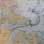 cruise route into Canadian High Arctic