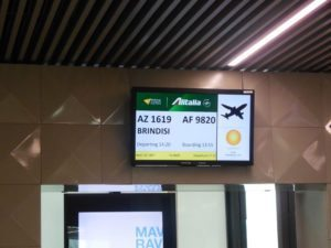 Rome Airport Domestic Terminal 1 Alitalia boarding gate